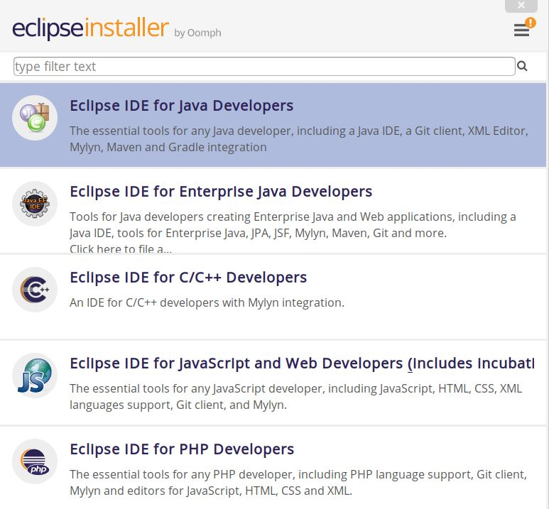 Eclipse IDE for Java Developers