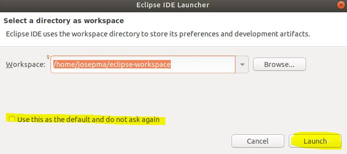 Work Space Eclipse
